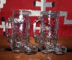 Glass Cowboy Boot Drinking Mug
